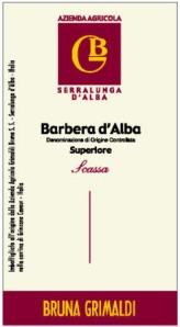 GRIMALDI, Scassa Barbera d'Alba Superiore