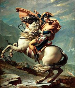 Jean Louis David's Napoleonn Crossing the Alps