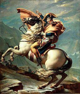 Jean Louis David's Napoleonn Crossing the Alps