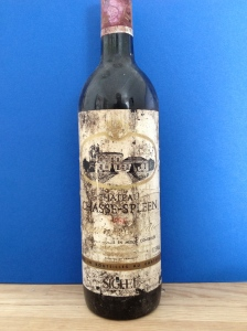 Well into the neck, Chateau Chasse Spleen 1986 - Moulis