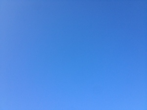 The sky above the Côte d'Or this morning